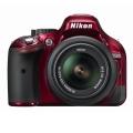 Nikon (ニコン) D5200 18-55 VR レンズキット レッド