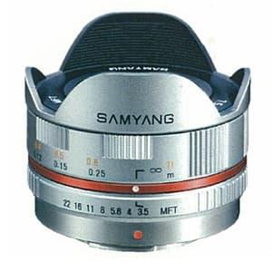 7.5mm F3.5 フィッシュアイ(マイクロフォーサーズ用) シルバー