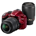 Nikon (ニコン) D3200 200mmダブルズームキット レッド